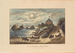 California Scenery. Seal Rocks – Point Lobos, Currier & Ives