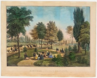 Central Park. The Drive, Currier & Ives