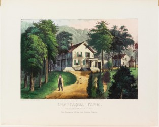 Chappaqua Farm. Westchester County, NY The Residence Of The Hon. Horace Greeley, Currier & Ives
