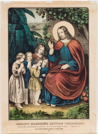 Christ Blessing Little Children, Currier & Ives
