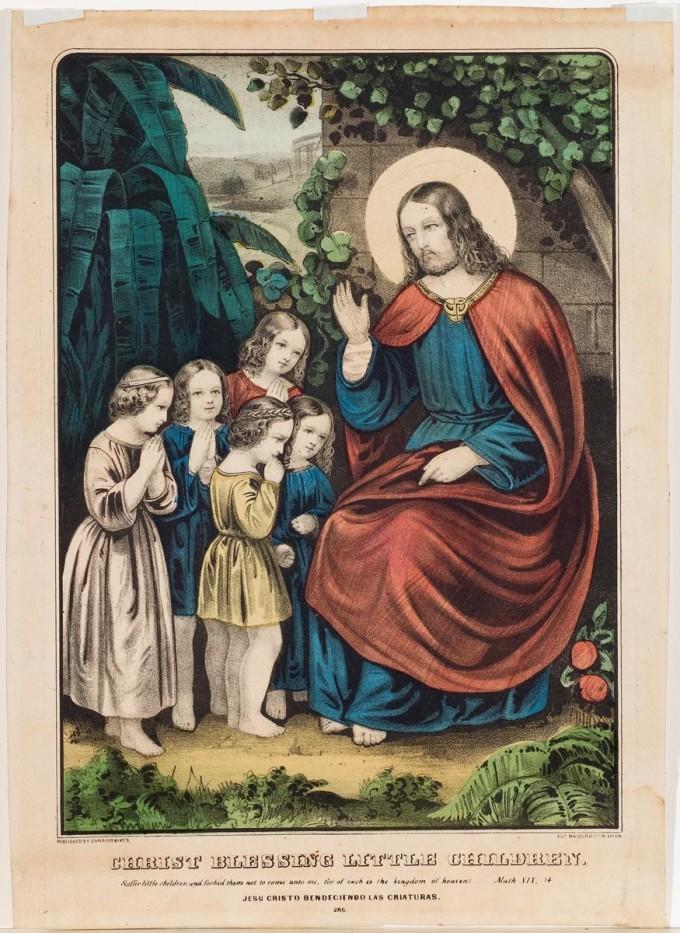 Christ Blessing Little Children, Currier & Ives ...