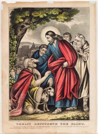 Christ Restoreth The Blind, Nathaniel Currier