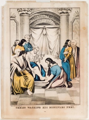Christ Sashing His Disciples Feet, Nathaniel Currier