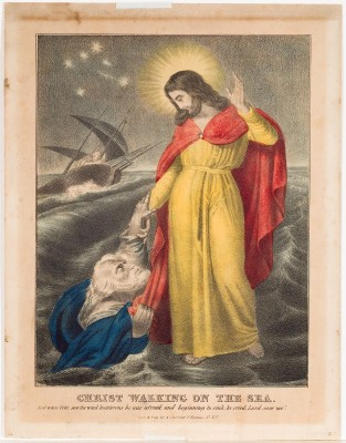 Christ Walking On The Sea, Nathaniel Currier