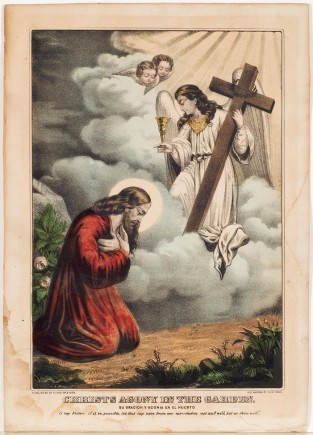 Christ's Agony In The Garden, Currier & Ives