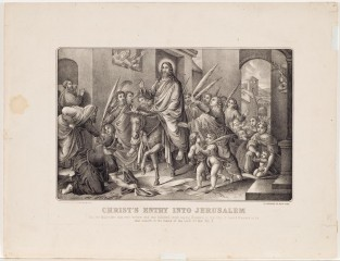 Christ's Entry Into Jerusalem, Currier & Ives