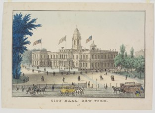 City Hall, New York, Nathaniel Currier