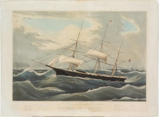 "Clipper Ship ""RACER"", Nathaniel Currier"