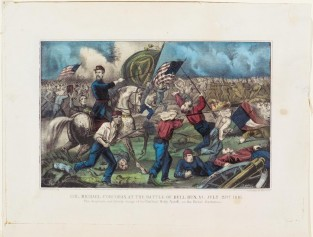 Col. Michael Corcoran, At The Battle Of Bull Run, VA – July 21st 1861., Currier & Ives