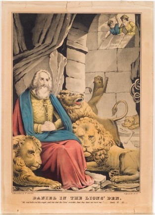 Daniel In The Lion's Den, Nathaniel Currier