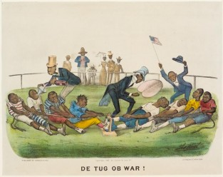 De Tug Ob War!, Currier & Ives