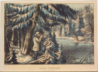 Deer Shooting. In The Northern Woods., Currier & Ives