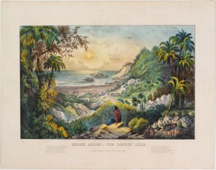 Enoch Arden – The Lonely Isle., Currier & Ives