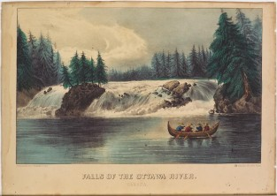 Falls Of The Ottawa River. Canada, Currier & Ives