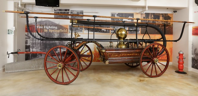 Fire engine, side-stroke water pump, 1872, L. Button & Sons, Waterford, NY