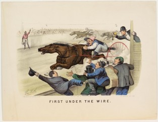 First Under The Wire, Currier & Ives