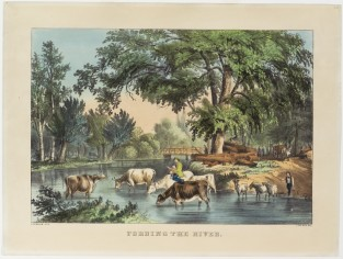 Fording The River, Nathaniel Currier
