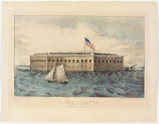 Fort Sumter Charleston Harbor, SC, Currier & Ives