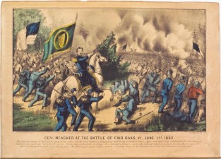 General Meagher At The Battle Of Fair Oaks VA June 1st 1862, Currier & Ives
