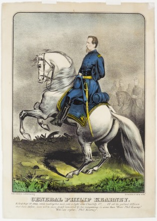 General Philip Kearney, Killed Sept 1st 1862, While Leading His Men Into A Fight Near Chantilly, VA, Currier & Ives