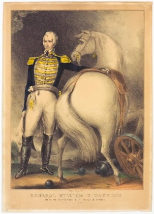 General William H. Harrison. Hero Of Tippecanoe, Nathaniel Currier