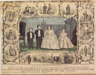 Genl. Tom Thumb & Wife, Com. Nutt & Minnie Warren, Currier & Ives