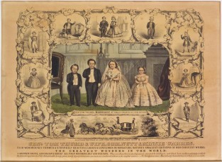 Genl. Tom Thumb's Marriage. Genl. Tom Thum & Wife, Com Nutt & Minnie Warren., Currier & Ives