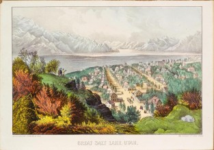 Great Salt Lake, Utah, Currier & Ives
