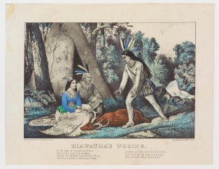 Hiawatha's Wooing., Currier & Ives