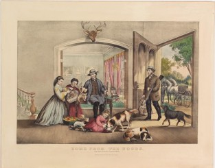 Home From The Woods. The Successful Sportsmen, Currier & Ives