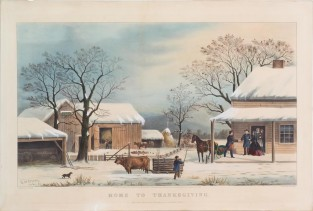Home To Thanksgiving, Currier & Ives