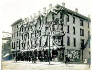 Hotel Chandler, Corner Main & Bliss Sts., Springfield 50th Anniversary, 1902