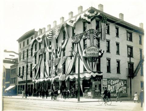 Hotel Chandler, Corner Main & Bliss Sts., Springfield 50th Anniversary, 1902
