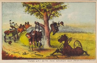 """Hung Up,"" With The Starch Out, Currier & Ives"