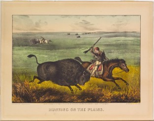 Hunting On The Plains, Currier & Ives