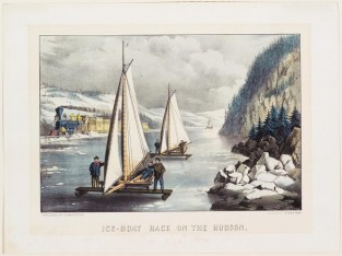 Ice Boat Race On The Hudson, Currier & Ives