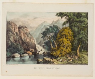 In The Mountains, Currier & Ives