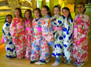 Students In Japanese Clothing