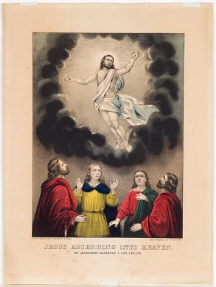 Jesus Ascending Into Heaven, Currier & Ives