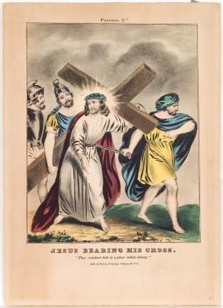 Jesus Bearing His Cross, Nathaniel Currier