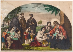 Jesus Blessing Little Children, Currier & Ives