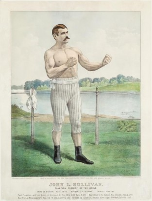 John L. Sullivan. Champion Pugilist Of The World, Currier & Ives