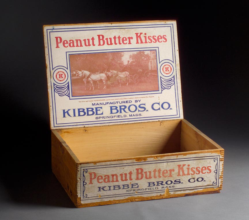 Kibbe bros co peanut butter kisses packing box unknown springfield museums - Unknown uses of butter ...
