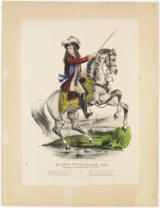 King William III. Crossing The Boyne, July 1st 1690., Currier & Ives