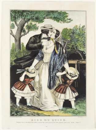 Kiss Me Quick, Currier & Ives