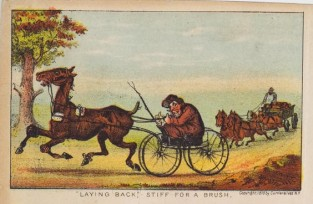 """Laying Back"". Stiff For A Brush, Currier & Ives"