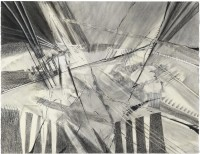 Lesley Cohen, Between Thought and Sound, 2009, charcoal and chalk pastel, 20 x 26, On loan from the artist
