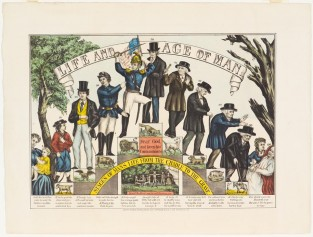Life And Age Of Man. Stages Of Man's Life From Cradle To The Grave, Currier & Ives