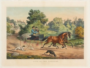 "Life In The Country. ""Out For A Days Shooting"", Currier & Ives"