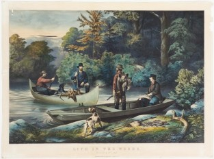 "Life In The Woods: ""Returning To Camp"", Currier & Ives"